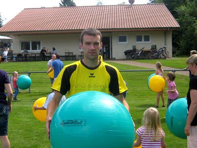 Johannes Klare organisierte den Spielenachmittag für die Jüngsten.